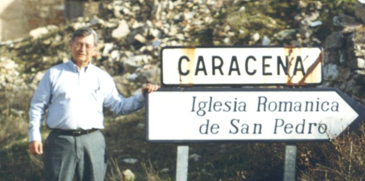 Dr. Fernando Caracena at the northern Spanish town of Caracena.
